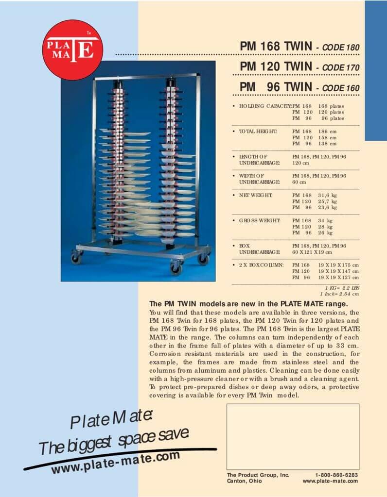 PlateMate Twin Spec Sheet