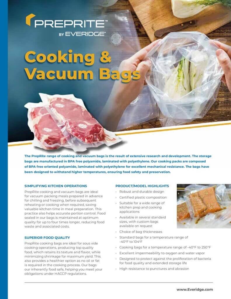 Prep Rite Cooking Bag Brochure