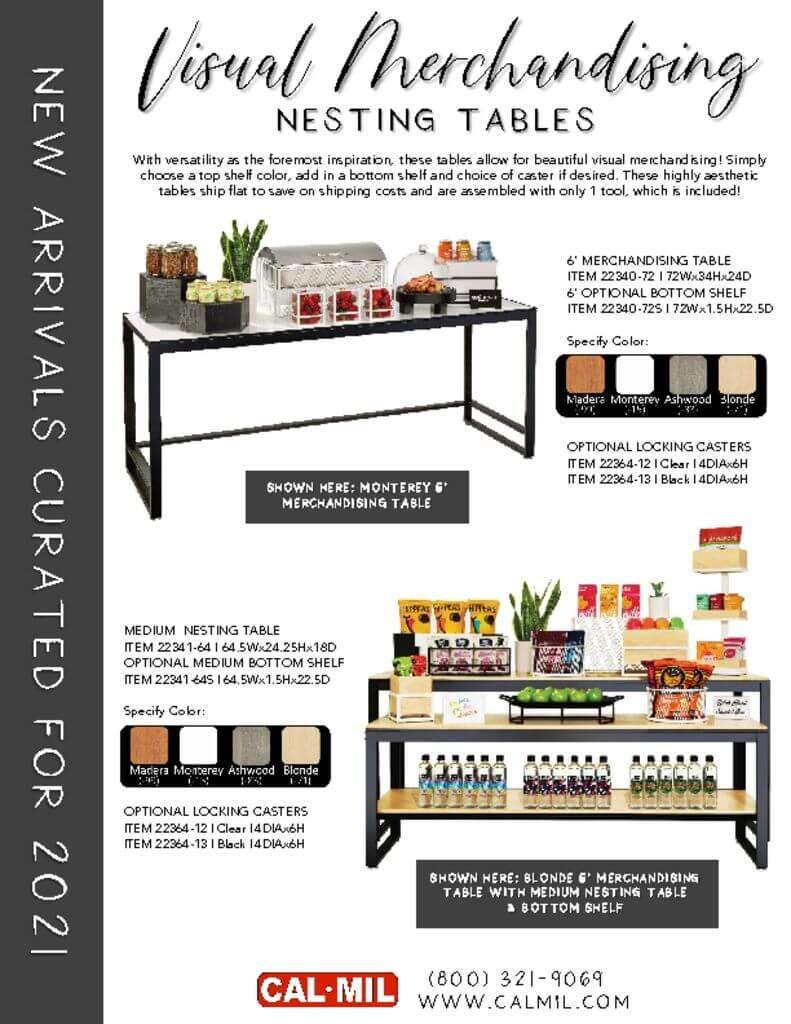 Cal-Mil's New Visual Merchandising Nesting Tables