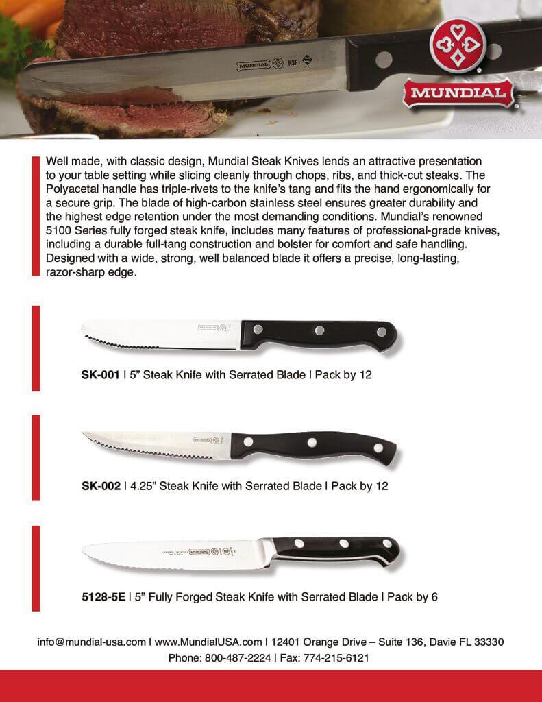 Steak Knife Sell Sheet